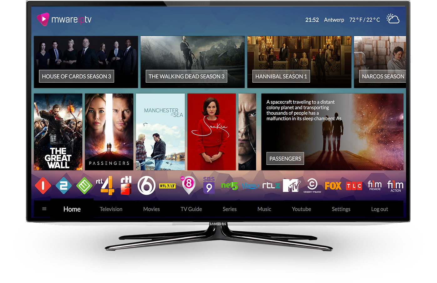 Mware Solutions Honua User Interface IPTV Middleware
